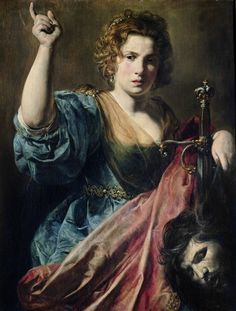 """Valentin de Boulogne, """"Judith with the Head of Holofernes"""" (ca. 1626-27)"""