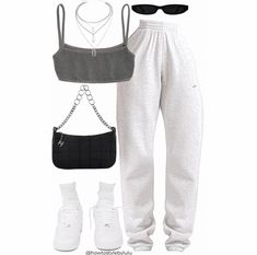 Baddie Outfits Casual, Cute Comfy Outfits, Komplette Outfits, Teen Fashion Outfits, Retro Outfits, Polyvore Outfits, Classy Outfits, Stylish Outfits, Tomboy Fashion