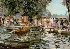 Pierre Auguste Renoir - La Grenouillere (1869)