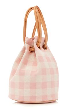Check Canvas Drawstring Tote by MANSUR GAVRIEL Now Available on Moda  Operandi Pouch Bag, Bucket fcd1228a61d