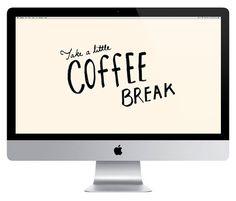 Decorate Your Desktop 03: Take a Little Coffee Break    www.apairofpears.com