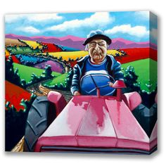 Box Canvas of 'The Last Of The Boy Racers' by Eoin O'Connor, available in sizes X & X also available in multiple sizes as a framed print Fine Art, Disney Characters, Connor, Canvas, Painting, Art, Aurora Sleeping Beauty, Irish Art, Prints