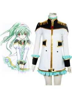 Galaxy Angel Vanilla H Cosplay Uniform Costume. This gorgeous Vanilla H costume is arguably one of the most authentic and most beautiful anime costumes on the market today. The base layer is a beautiful sea-green mini-dress with a high collar, sleeveless arms and a ruffle.. . See More Galaxy Angel Cosplay at http://www.ourgreatshop.com/Galaxy-Angel-Cosplay-C841.aspx