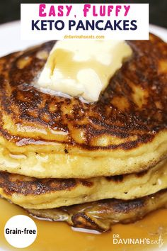 This is the BEST Keto almond flour pancakes recipe that you can find. Even though, these are low carb, grain-free, […] Best Keto Pancakes, Low Carb Pancakes, Almond Flour Pancakes, Almond Flour Recipes, Keto Diet Breakfast, Breakfast Recipes, Breakfast Ideas, Breakfast Cereal, Breakfast Gravy