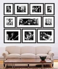 family photo wall display ideas - Google Search