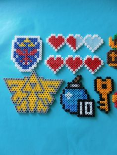 Nintendo Legend fo Zelda perler bead magnets PICK FOUR. $15.00, via Etsy.