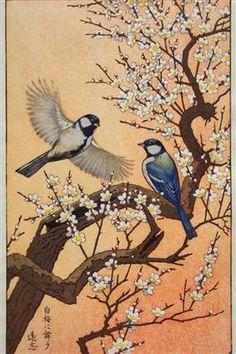 Birds of the Seasons - Spring - Toshi Yoshida