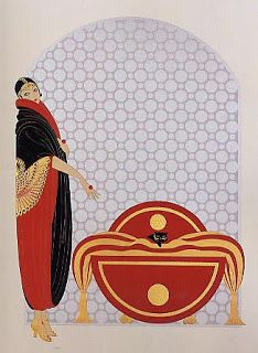 quenalbertini: Deco poster by Erté Art Nouveau, Erte Art, Art Deco Illustration, Art Illustrations, Blog Art, Art Deco Artists, Harper's Bazaar, Art Vintage, Vintage Hats