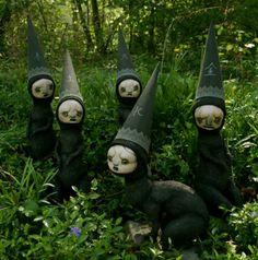 creepy creepy yard art
