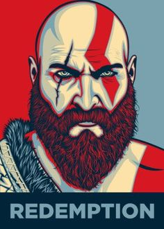 Hand-crafted metal posters designed by talented artists. We plant 10 trees for each purchased Displate. Kratos God Of War, Easy Drawings, Game Art, Video Games, Anime, Cool Stuff, Gaming, Saga, Obama Poster