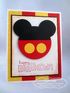 Stampin' Up! Mickey Birthday Card by Andi P