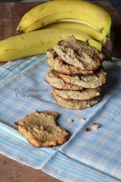 Fit ciasteczka bananowe [banan, mąka kokosowa, olej kokosowy, jajko, soda]