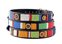 5fb44d95bb7cd4 Maasai Masai Beaded Dog Collar Colourful by TheMaasaiShop on Etsy
