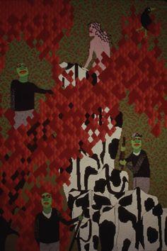 Susan Martin Maffei, Herding the Cows, 50 x 33 inches