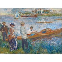 Trademark Fine Art Oarsmen at Chatou 1879 Canvas Art by Pierre-Auguste Renoir, Size: 14 x 19, Multicolor