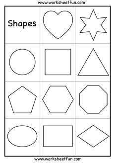 Printables Preschool Printable On Shapes printable kindergarten worksheets for preschool heart star circle square triangle pentagon hexagon octagon oval rectangle and diamond shapes wor
