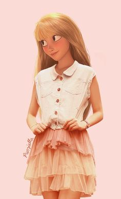 disney real rapunzel 3 可愛い!ディズニーキャラクター達が現代のファッションだったらという画像37枚