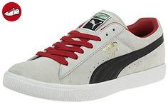 Puma Clyde Script Suede Herren Sneaker Schuhe Leder grau 351907 17, Schuhgröße:EUR 45 - Puma schuhe (*Partner-Link)