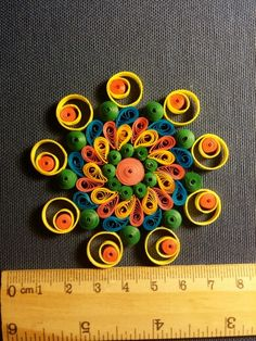 Miniature #mandala#quilling with 3mm papers