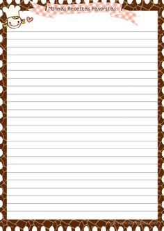 Vâmo Lá em Casa: Folhas Personalizadas Para Caderno de Receitas (Imprimir)