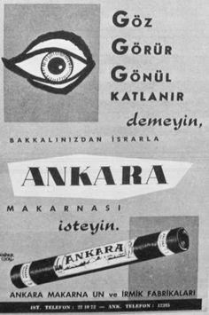 OĞUZ TOPOĞLU : ankara makarnası 1957 nostaljik eski reklamlar Old Poster, Vintage Advertisements, Ads, Turkish Delight, Nostalgia, Advertising, Banner, Branding, Ankara