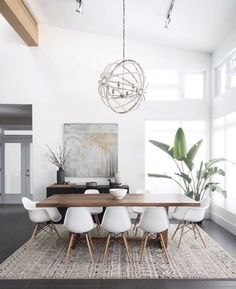 Gorgeous 30 Modern Minimalist Dining Room Design Ideas for Comfortable Dinner Wi. - - Gorgeous 30 Modern Minimalist Dining Room Design Ideas for Comfortable Dinner With Your Family – DECOOR Home Design, Decor Interior Design, Design Ideas, Modern Interior, Coastal Interior, Minimalist Home Interior, Minimalist Furniture, Design Styles, Minimalist Style