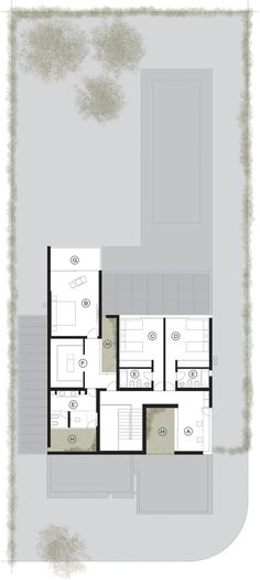 Image 9 of 28 from gallery of A House / Estudio GMARQ. Photograph by Alejandro Peral House Arch Design, Cabin Design, Villa Plan, New House Plans, Modern House Plans, Craftsman Floor Plans, Floor Plan Layout, Duplex, Townhouse