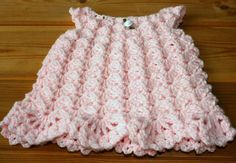 0-3 months Pink crochet baby dress Handmade baby lace dress Newborn infant girl jumper Babies crochet clothing New baby layette Shower gifts