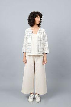 Short Sleeved A-Line Round Bottom Dress Handblock Printed In Unprocessed Handspun Handwoven Handloom Off-White Cotton Fiesta Blue