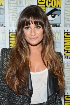 Lea Michele - wavy cut with bangs