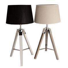 Awesome Details zu Lampenfu TRIPOD Lampe Stativ Leuchte Shabby Chic Holz Landhaus Chrom Metall