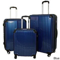 World Traveler 3-piece Hardside Lightweight Expandable Luggage TSA Lock Spinner Upright - Overstock™ Shopping - Great Deals on Three-piece Sets