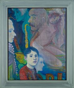 Steven Shearer Young Symbolist, 2013 Acrylic and oil on canvas; artist's frame 94.6 x 80 cm