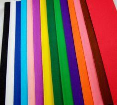 Grande qualité de Papier crépon Couleurs vives-Lot de 14 Papier crépon se plie (feuilles de taille pratique - 150 cm x 50 cm Dimensions de chaque feuille Par Clikkabox -: Amazon.fr: Cuisine & Maison