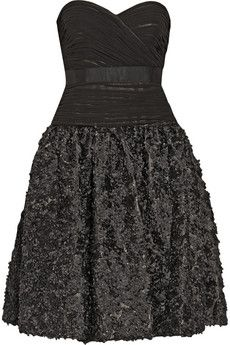 Mikael Aghal Sequined silk and mesh dress | THE OUTNET