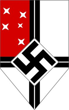 The official flag for the Reichskolonialbund, a wing of the National Socialist German Workers Party which focused on colonial affairs for the Third German Reich. The primary purpose of the Reichskolonialbund was to reclaim the overseas colonies that Germany had lost as a result of the Treaty of Versailles at the end of World War I. These territories include German South West & South East Africa, Kamerun, and German New Guinea.