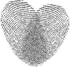 Cute fingerprint heart to put on invitations or other paper products!!
