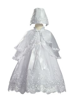 Vestido para Batizado Luxo Bordado