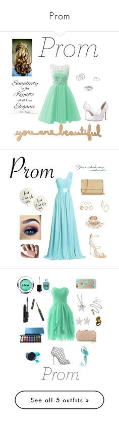 """""""Prom"""" by gracelovespigs on Polyvore featuring SJP, Vince Camuto, Tiffany & Co., Bony Levy, Giuseppe Zanotti, Michael Kors, Angelo, Kate Spade, Kevin Jewelers and NYX"""
