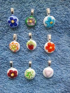 Kids pendants - lampworked glass www.glassbyclaire.com Evolution, Glass Art, Polymer Clay, Fiber, Journey, Pendants, Christmas Ornaments, Holiday Decor, Kids