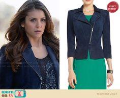 Elena's blue jacket on The Vampire Diaries.  Outfit Details: http://wornontv.net/32635/ #TheVampireDiaries