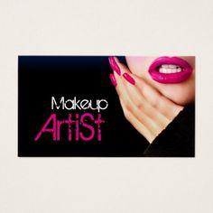 Makeup Artist Salon Business Card - makeup artist gifts style stylish unique custom stylist