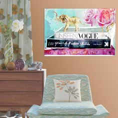 Library of a Fashionista Canvas Print, Oliver Gal - Wall of Fame on Joss & Main