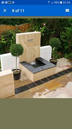 Lovely water feature made from tiles.  How can I make it? Courtesy of stone alone paving on eBay