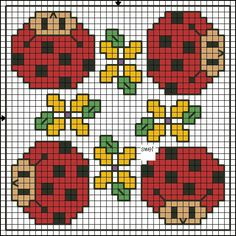 Biscornu chart...this would be so cute on tiny gingham fabric