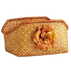 Flower Bamboo Basket