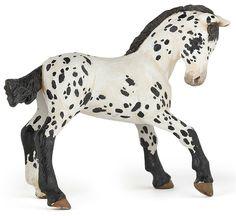 Papo Appaloosa Foal Black www.minizoo.com.au