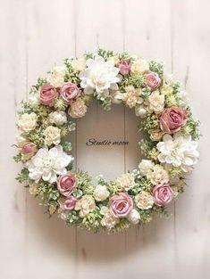 Мастер классы, идеи и др. Spring Door Wreaths, Easter Wreaths, Summer Wreath, Holiday Wreaths, Wreath Crafts, Diy Wreath, Vintage Wreath, Deco Floral, Funeral Flowers