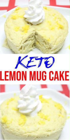 Keto Mug Cakes! Low Carb Microwave Lemon Mug Cake Idea – BEST Quick & Easy Ketogenic Diet Recipe – Completely Keto Friendly – Sugar Free – Gluten Free, Mug Recipes, Gourmet Recipes, Cake Recipes, Dessert Recipes, Desserts, Low Carb Mug Cakes, Protein Mug Cakes, Lemon Mug Cake, Vanilla Mug Cakes