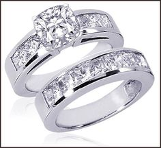 diamond wedding bands, perfect. I want these!!
